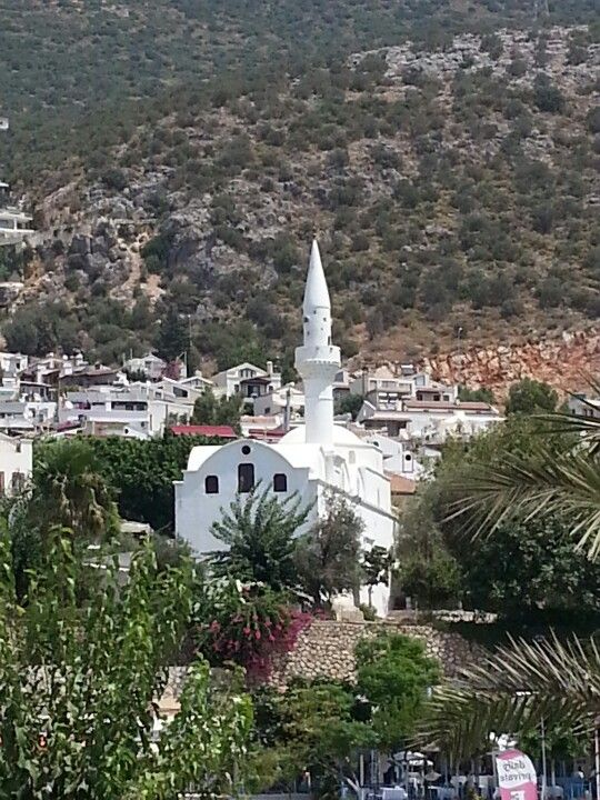 Kalkan - Turkey... Had this very view from the balcony of our apartment on a wonderful family holiday in 2004. The sound of prayers from the mosque filled the valley at certain times of the day. Wonderful!