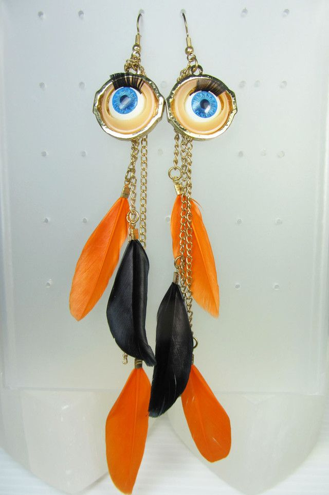 THE EYE FEATHER EARRINGS QT 340