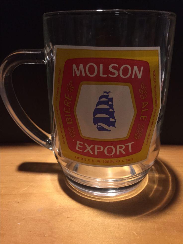 Molson Export Handled Beer Glass