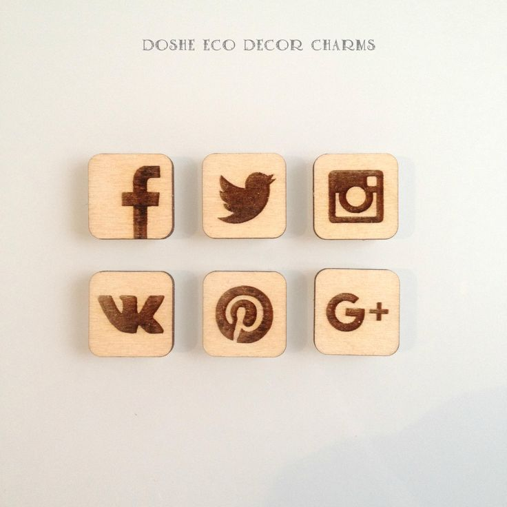 Perfect Social Media Icons, Social media signs, Facebook icon, Instagram icon, Twitter icon, Pinterest icon, Google, Wood signs, Laser cuts by DosheEcoDecorCharms on Etsy