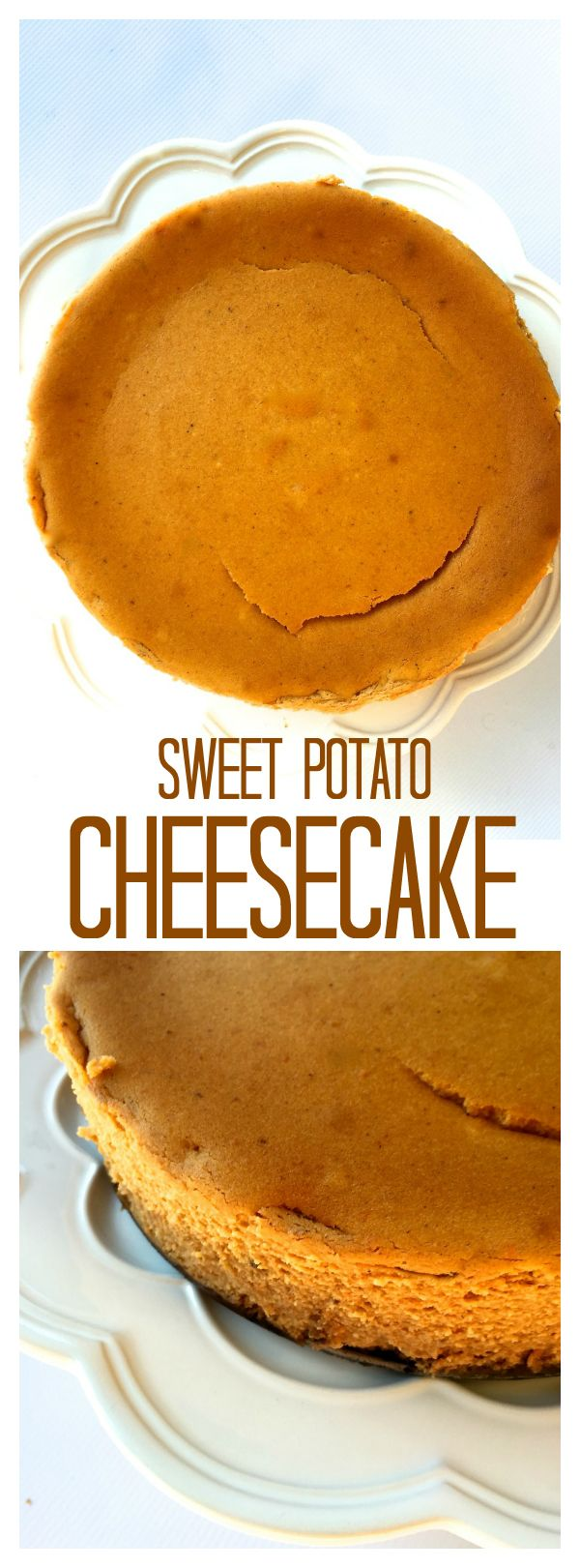 Make ahead this Sweet Potato Cheesecake for easy entertaining! at ReluctantEntertainer.com