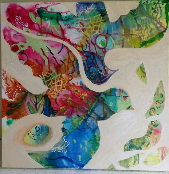 """""""Twin Tweets"""" Mixed media on canvas by Susan Curtin. http://www.facebook.com/susancurtinart"""