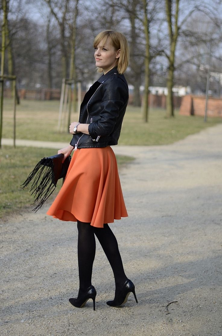 Handmade orange skirt