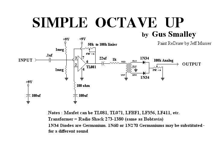 simple octave up guitar effects pedals schematics diy fx in 2019 guitar diy guitar pedal. Black Bedroom Furniture Sets. Home Design Ideas