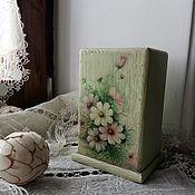 Для дома и интерьера ручной работы. Ярмарка Мастеров - ручная работа Подставка под столовые приборы Цветы прованс. Handmade.
