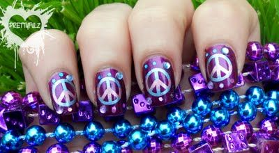 peace    sighs | Peace Sign Nail Art Design & Poll Results