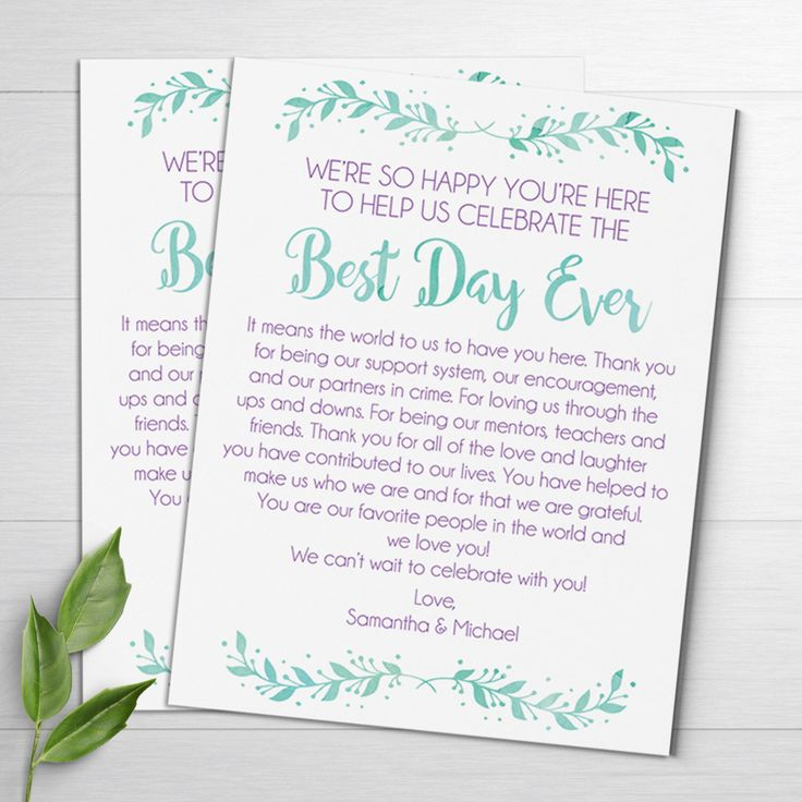 Best 25+ Wedding welcome letters ideas on Pinterest Welcome - wedding thank you note
