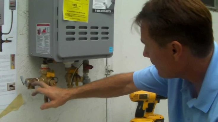 tankless water heater installation manual