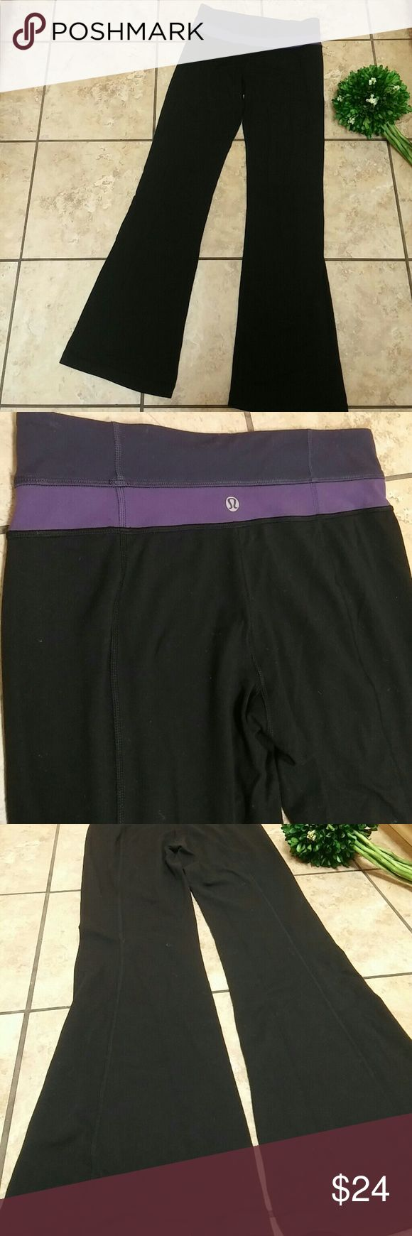 Lululemon workout pants Nice pair of black lululemon workout yoga pants. They have some piling going on and lint that is stuck to it. You need a lint roller and a piling shaver and they will look great. There are no holes and no stains. lululemon athletica Pants Boot Cut & Flare