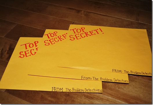 Give students a Top Secret envelope filled with problem/solution case files. If they solve the problems, they become members of The Problem Detectives Club!