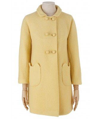 cappottino in lana cotta con tasche a forma di gat