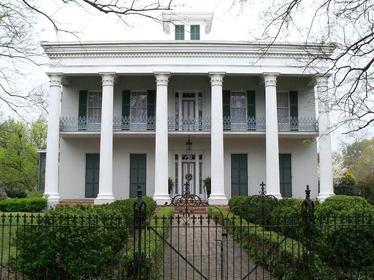 Greek revival style cottages google search wrought for Southern architectural styles