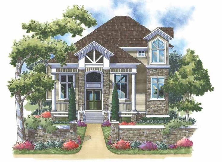 New american house plan with 2657 square feet and 3 for American dream house plans