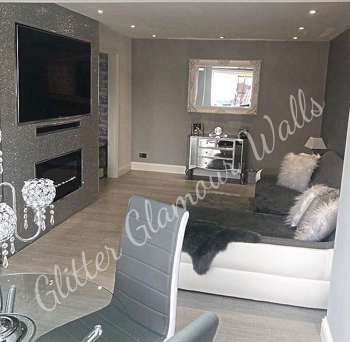 Silver Grey Lounge Living Room Glitter Wallpaper Wallpaper Living Room Living Room Decor Apartment