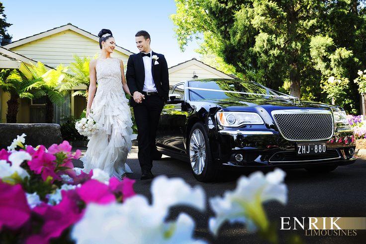 Wedding car hire Melbourne - Chrysler luxury sedan with @ICONPHOTOSMEL  at @bramleigh receptions