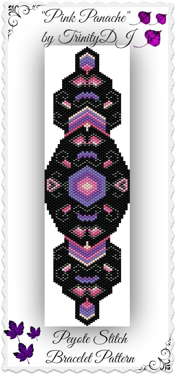 """New pattern listed: """"Pink Panache"""" - Increase and Decrease Peyote stitch Bracelet Pattern - One of A Kind In the Raw Design. Please follow this link for more info: https://www.etsy.com/listing/169104719/bp-pey-010-pink-panache-increase-and?ref=listing-shop-header-0"""
