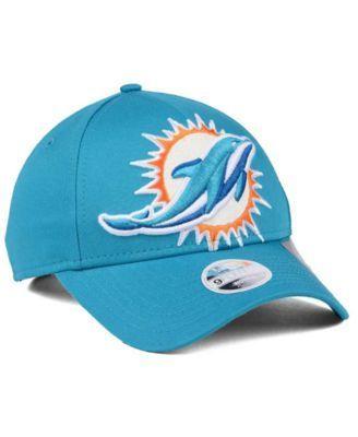 New Era Women's Miami Dolphins Glitter Glam 9TWENTY Strapback Cap - Blue Adjustable