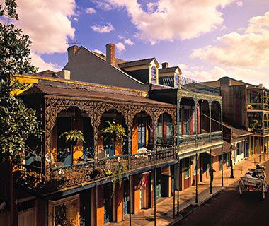 New Orleans, LA It's the ultimate party destination, with distinctive shopping and no shortage of beignets; the Crescent City won the girlfriend getaway contest for hitting every necessary indulgence. By day, you can browse boutiques on Magazine Street or antiques on Royal Street. Or sign up your gang for a crash course in chicken gumbo and other down-home cooking at Langlois Culinary Crossroads...