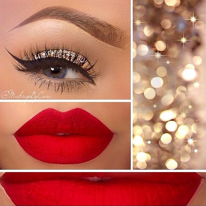36 Festive Christmas Makeup Ideas