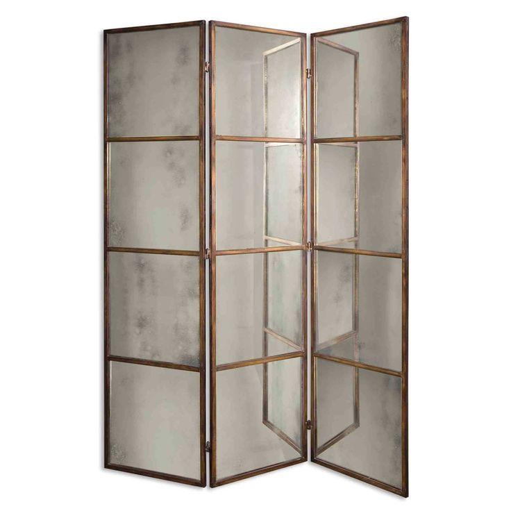 Antique Mirror Floor Screen antique_gold