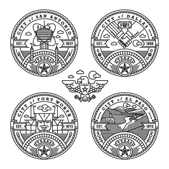 Texas badges