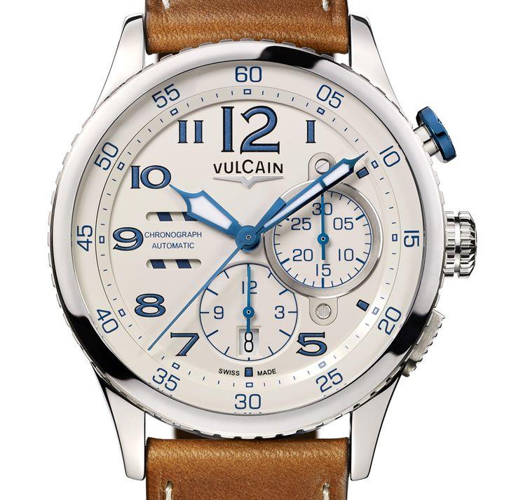 Les nouveautés  2014 des montres Vulcain - VULCAIN AVIATOR INSTRUMENT CHRONOGRAPH