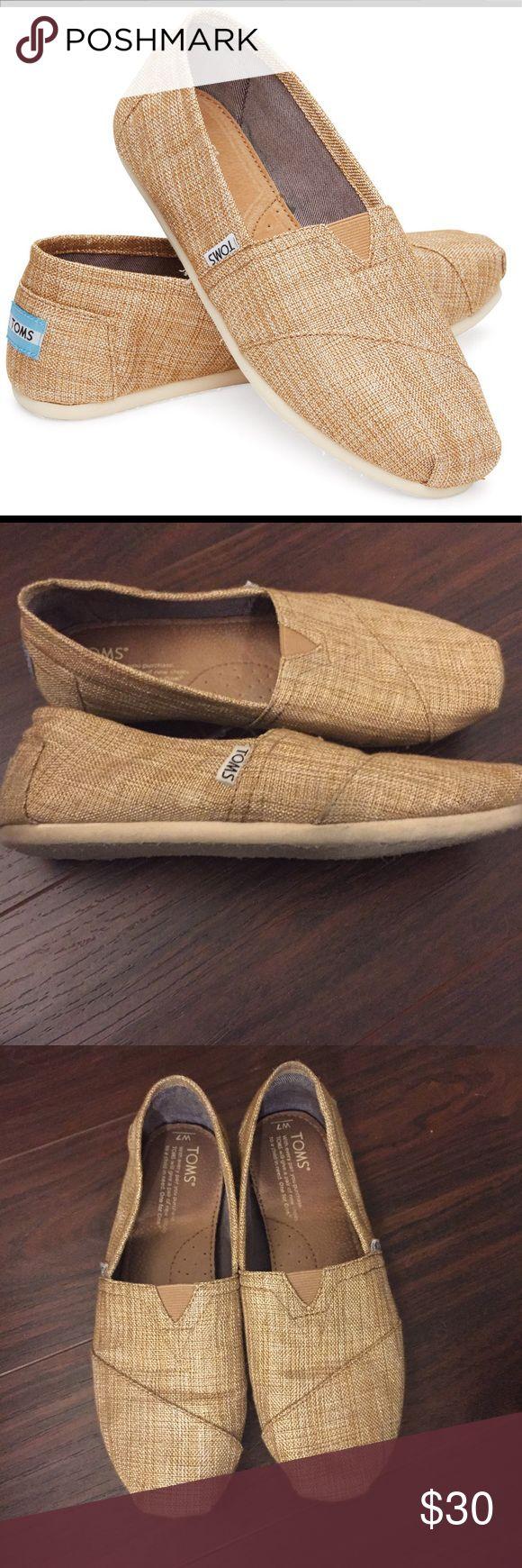 Toms Shiny Burlap Classic Shoes Women's size 7