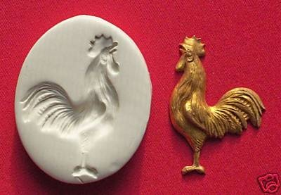 BIRD CHICKEN ROOSTER crowing ~ CNS polymer clay mold