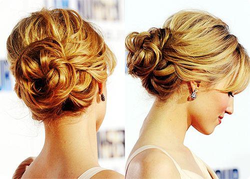 Updo: Hair Ideas, Up Dos, Wedding Hair, Bridesmaid Hair, Dianna Agron, Prom Hair, Messy Buns, Hair Style, Updo