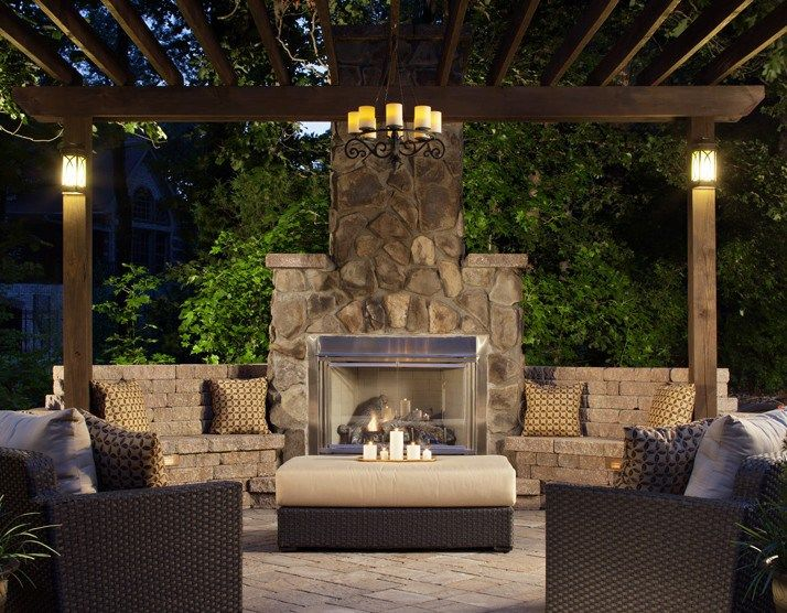 The Warmth of a Fire: Rustic Outdoor Fireplaces from BelgardOutdoor Living by Belgard