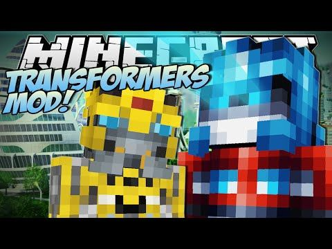 Minecraft | TRANSFORMERS MOD! (Robot Tanks, Planes and Cars!) | Mod Showcase - YouTube