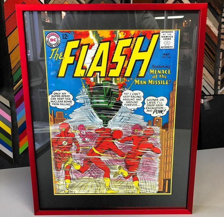 Had to share this The Flash print custom framed by @fastframeoflodo  Using UV glass, our naturally archival Nielsen metal moulding in TORNADO RED (what better for The Flash) and conservation matboard, they've created a one-of-a-kind piece that will stay pristine for years to come.  It's too cool!   #CustomFraming #TheFlash #DCComics #tornadored #memorabilia #keepsake #comicbookart