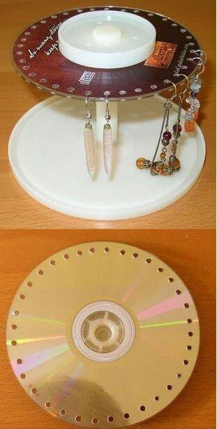 Porta brincos com CD