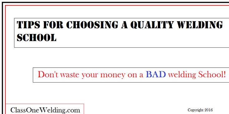 Tips For Choosing a Welding School