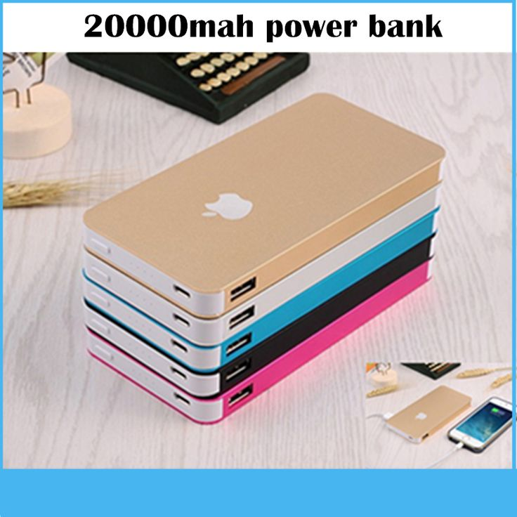 Hot brandnew Power Bank 20000mah Portable Charger Powerbank Mobile Phone Backup Powers External Battery Charger For