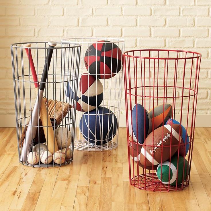 Garage Sports Organizer: Flea Market Wire Ball Bins