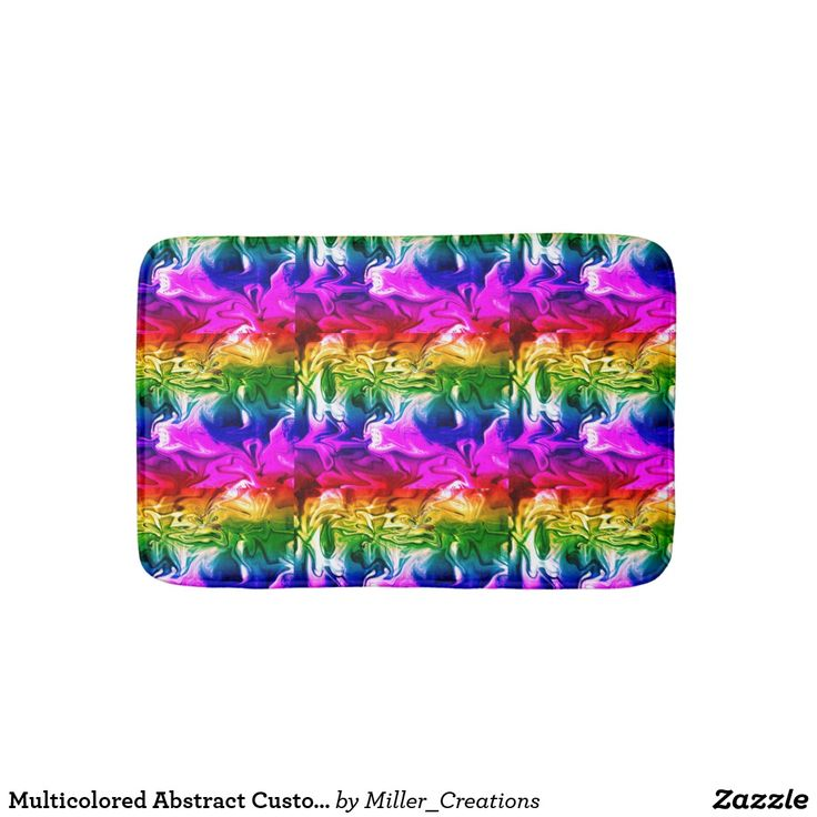 Multicolored Abstract Custom Small Bath Mat