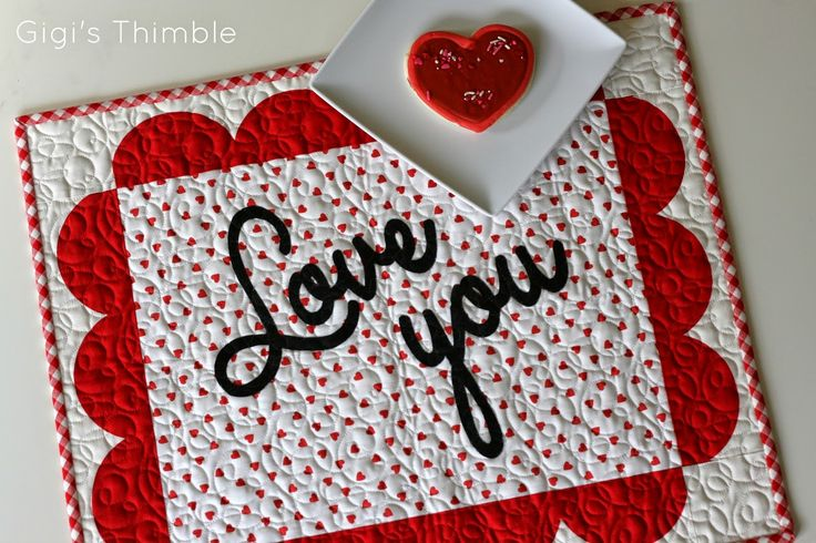 A Little Bit Biased: Love You Placemat Tutorial + Giveaway