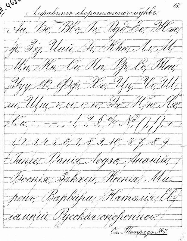 Прописи. 1902 год. Английский курсив для русской скорописи. - Страница 2