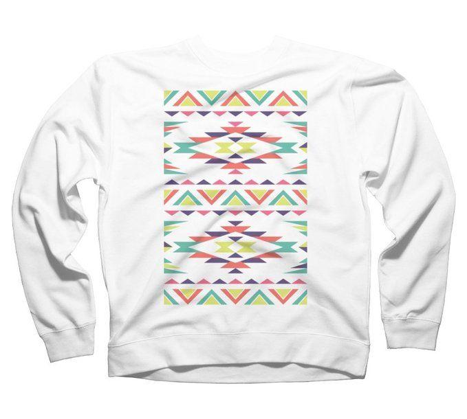 Aztec Nation Men's Graphic Crew Sweatshirt - Design By Humans