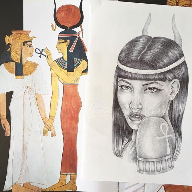 Isis goddess by albasketch  #draw #drawing #illustration #art #artist #sketch #sketchbook #ink #portrait #egypt #tattoo #girl #goddess #albasketch