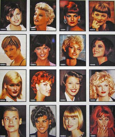 Linda Evangelista's ever-changing hairstyles. | 51 Reasons Why Supermodels Were Better In The '90s