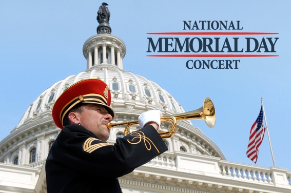 National Memorial Day Concert, 8pm on Sunday, May 26th
