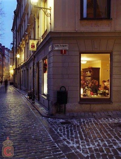 Chaikhana, casa de chá - milhares de chás diferentes para os dias frios em Estocolmo. Na cidade velha. > Svartmangatan, 23.
