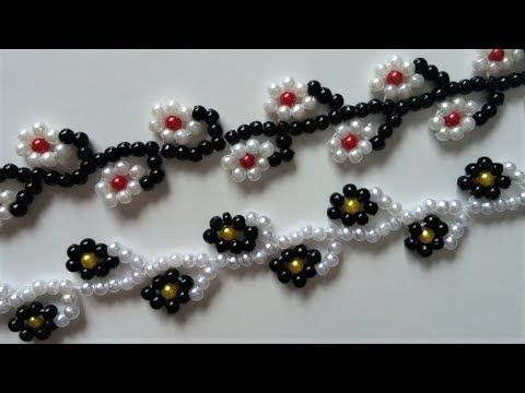 Floral  bracelet tutorial. Easy beading pattern for beginners - YouTube