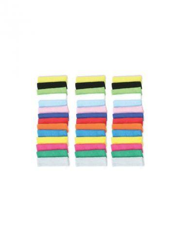 Voordelige hoofd zweetbandjes. De hoofdzweetbandjes zijn in verschillende kleuren verkrijgbaar. De hoofd zweetbandjes zijn ongeveer 6 cm breed en hebben een omvang van ca. 58 cm. Materiaal: 80% katoen/20% elasthan. Als u meer stuks besteld wordt de prijs lager, zie prijzen per 10 en 20 stuks.