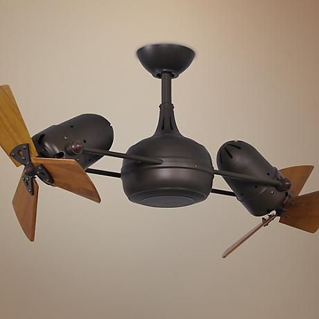 "41"" Matthews Dagny Bronze and Mahogany Dual Ceiling Fan - $976 8-