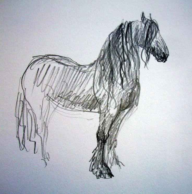artwork pictures | zuidlaardermarkt Horse fair art sketch5 | Aafke, Horses, and Art