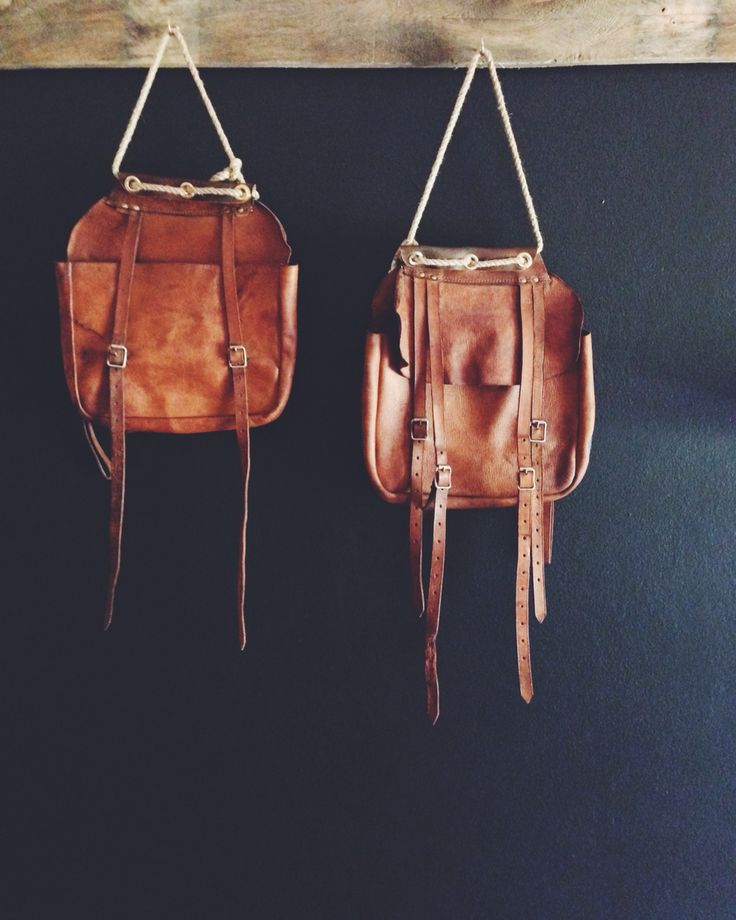 Genuine leather vintage saddle bags upcycled into a fabulous place for you to keep a few magazines, or your mail.   See freerangeboy on Facebook for more info.