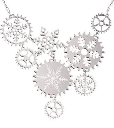 Lumi Statement Mirror Silver Necklace By @KiviMeri